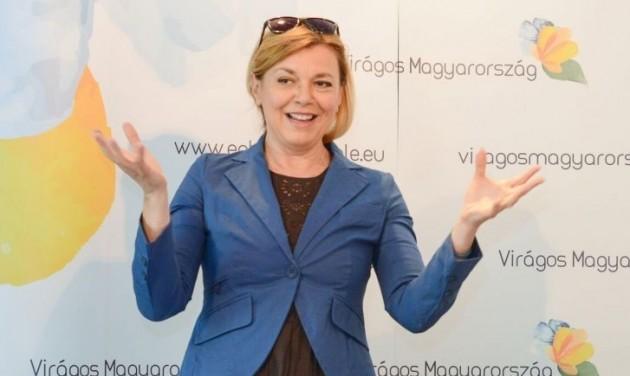 Borbás Marcsi a Virágos Magyarországért verseny új fővédnöke