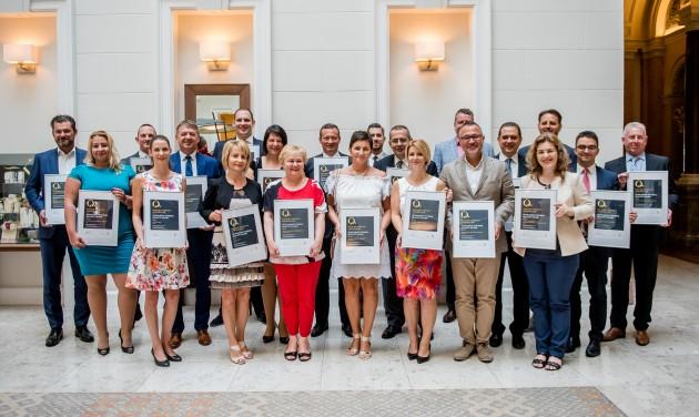 23 szolgáltató kapott Magyar Turizmus Minőségi Díjat