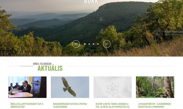 Megújult a Bükki Nemzeti Park Igazgatóság honlapja