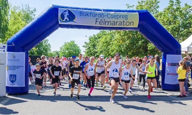 Jótékony célú futás a Bükfürdő-Csepreg félmaratonon