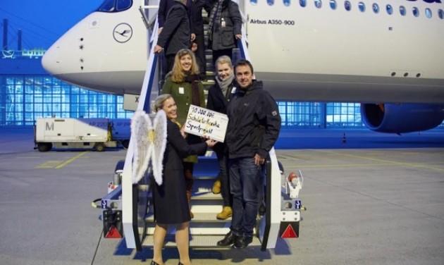 A Lufthansa A350-900 először szállt le otthoni repülőterén