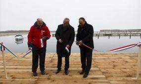 Új balatoni vitorláskikötőt avattak Vonyarcvashegyen