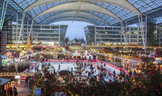 Téli csodaország a müncheni repülőtéren