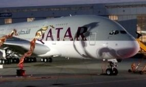 Megérkezett a Qatar első A380-asa