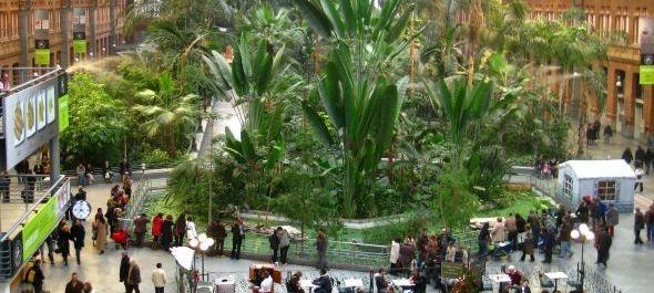 Dzsungel a reptéren, függőkert a várócsarnokban