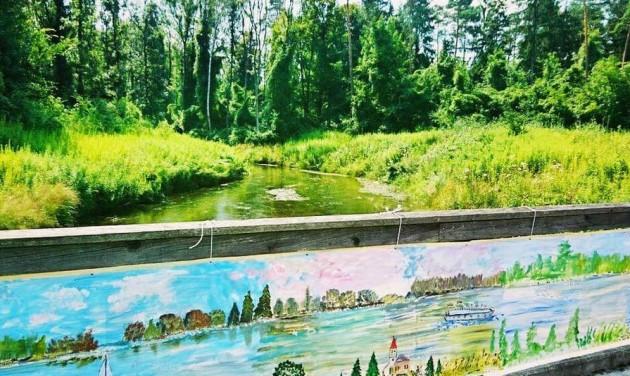 Egy kilométer hosszú festmény a Duna-parton