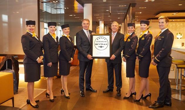 A Lufthansa Európa egyetlen ötcsillagos légitársasága