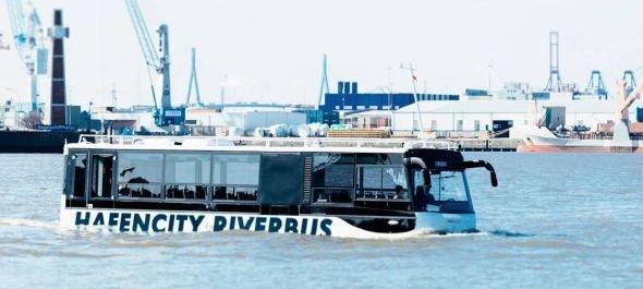 Hamburg új látványossága a budapesti RiverRide testvére