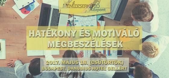 Hatékony és motiváló megbeszélések | workshop május 18-án kedvezménnyel