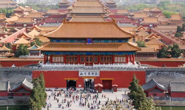Drasztikusan korlátozzák a pekingi Tiltott Város látogatószámát