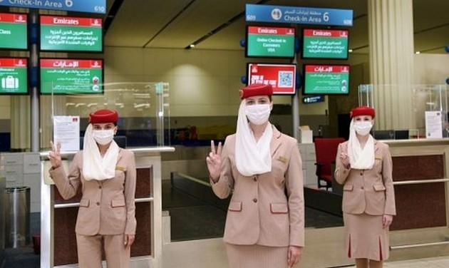 Kétszer beoltott légi személyzet az Emirates Dubaj–Los Angeles-járatán
