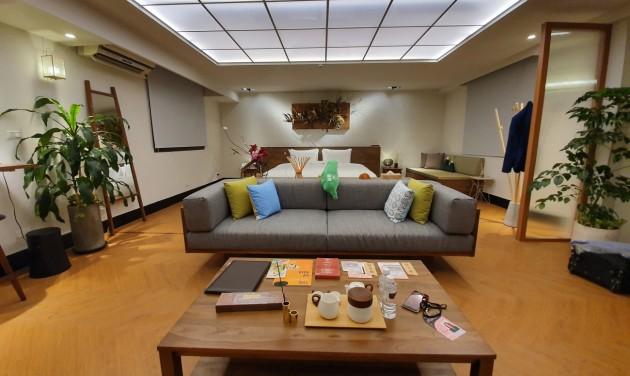 A tajvani elnöki irodában aludtunk