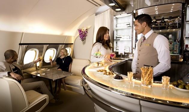 Megújul az Emirates fedélzeti lounge-a - VIDEÓ
