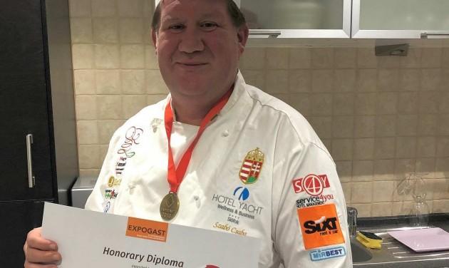 Világbajnoki bronzérmes a siófoki Hotel Yacht séfje