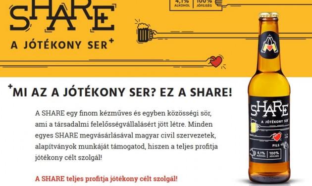 SHARE – a jótékony sörmárka