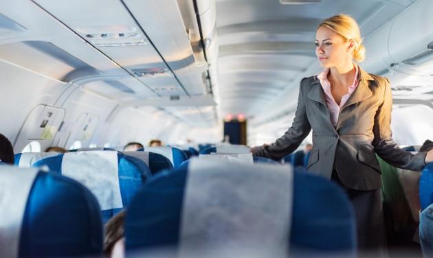 Miért kék a repülőgép ülések színe?
