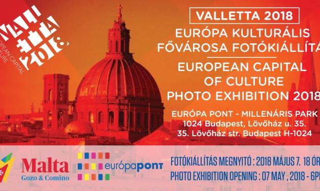Fotókiállítás nyílt Vallettáról az Európa Pontban