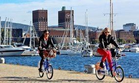 Gyorsforgalmi bicikliutakat építenek a norvég nagyvárosokban