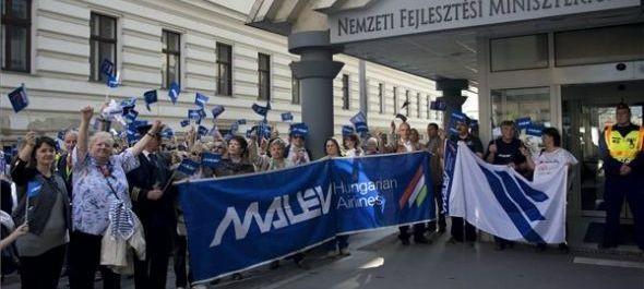Volt malévos dolgozók tüntettek Budapesten