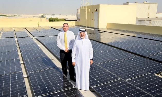 Naperőmű és vertikális farm az Emiratesnél