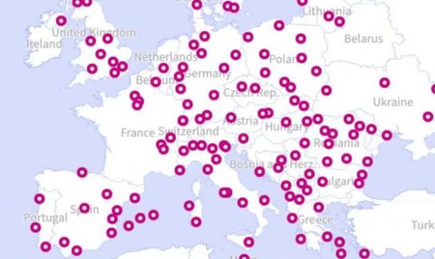 Színkódos utazástervező térképet indított a Wizz Air