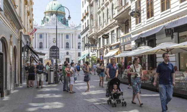 Kedvelik a gyaloglást Bécsben