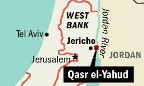 Felszedik az aknákat Jézus megkeresztelésének helyén a Jordán folyó partjánál