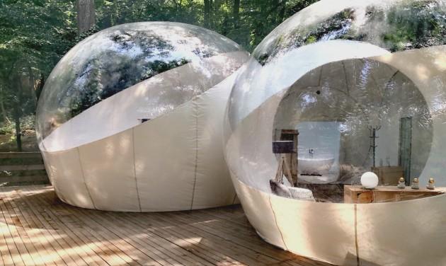 Ahol a vendég egyszerre van kint és bent: extrém buborékszállás Noszvajon