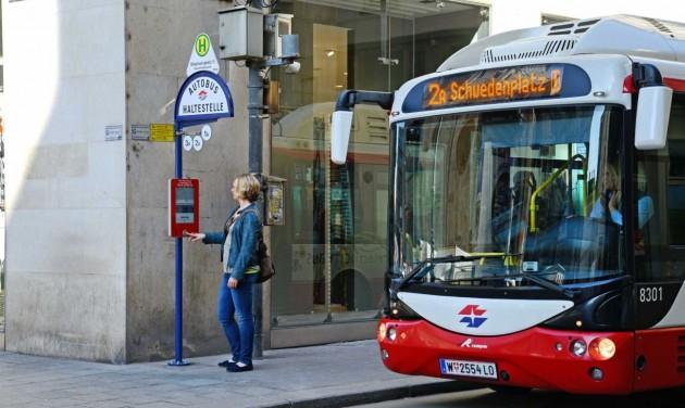 E-menetrend Bécsben