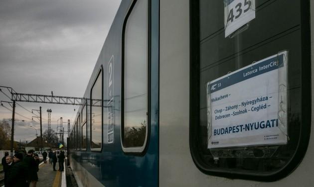 Elindult a Budapest-Munkács InterCity
