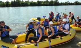 Panoráma-rafting a Száva folyón