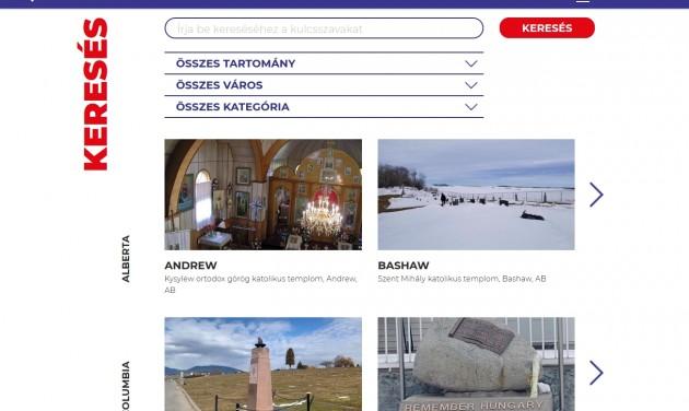 Weboldal magyar emlékekről Kanadában