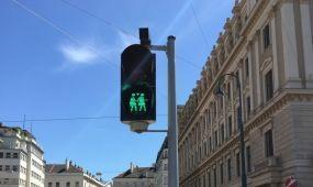 Párosan szép az élet Bécsben: társat kapnak a közlekedési lámpák emberalakjai