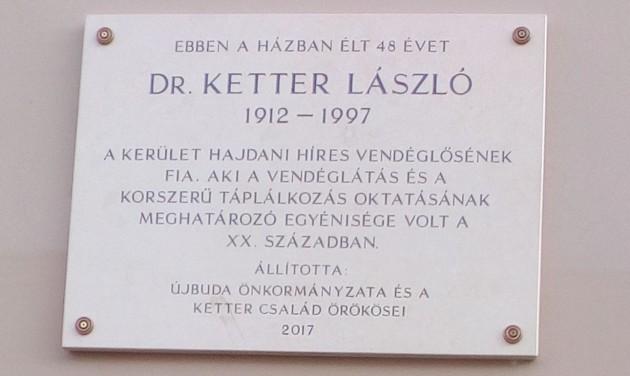 Emléktáblát avattak Ketter László tiszteletére