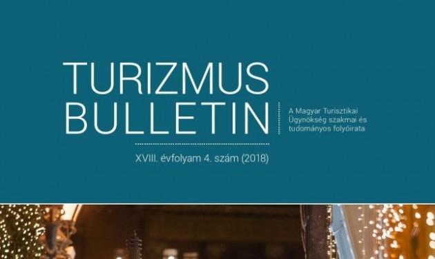 Megjelent a Turizmus Bulletin 2018/4-es száma