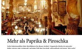 Több mint paprika és Piroschka, avagy a magyar gasztroforradalom