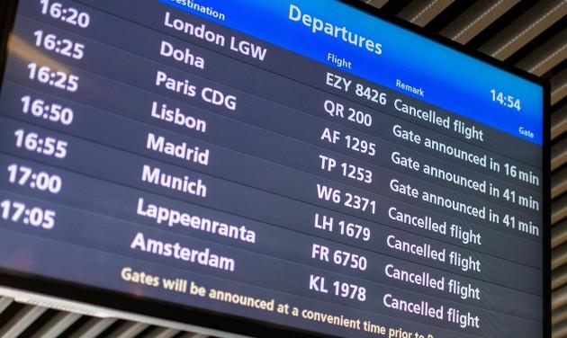 Drasztikus járatcsökkentésekre számít a Budapest Airport