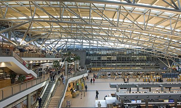 Átmeneti üzemszünet a hamburgi repülőtéren