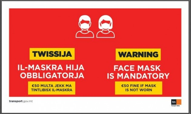 Büntetik Máltán a maszk nélkül közlekedőket