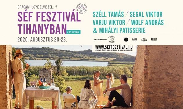 Séf Fesztivál Tihanyban a nyár végén