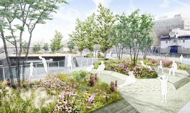Úszó kertekkel készül a nyári hőségre Bécs