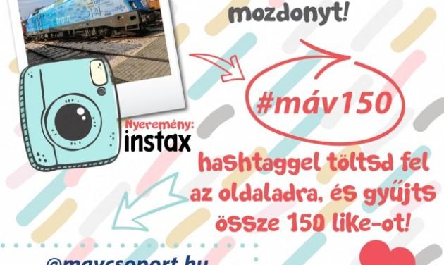 Instagram játékot hirdet a MÁV