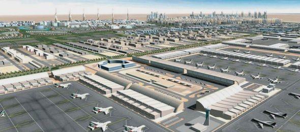 A világ legnagyobb reptere lehet az új dubaji légikikötő