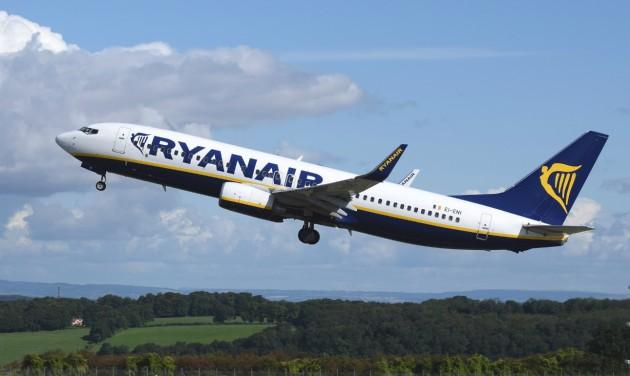 95 százalékkal csökkent a Ryanair bevétele