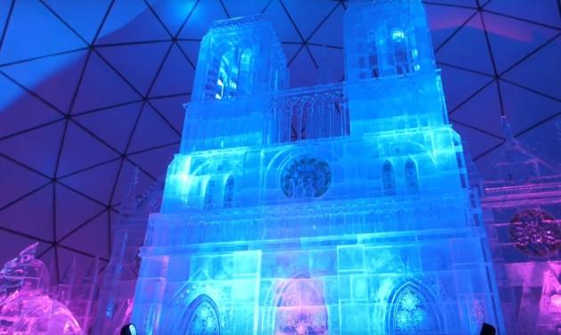A Notre Dame-ot idéző jégdóm nyílt a Magas-Tátrában – videó