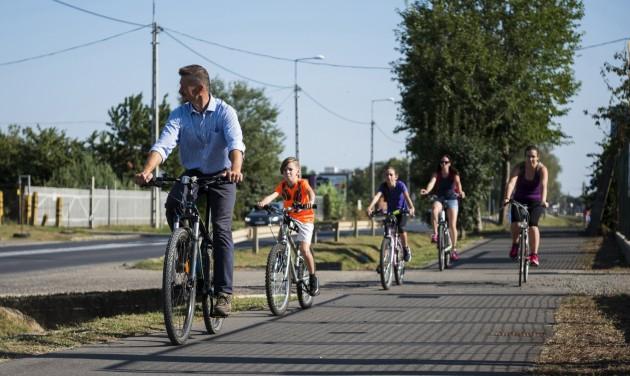 Átadták a Nyíregyháza és Tokaj között megépült kerékpárutat