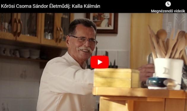 Kőrösi Csoma Sándor Életműdíj: Kalla Kálmán – videó