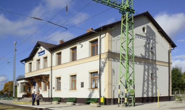Megújult Kapuvár vasútállomása