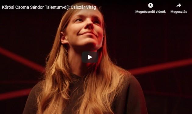 Kőrösi Csoma Sándor Talentum-díj: Csiszár Virág – videó