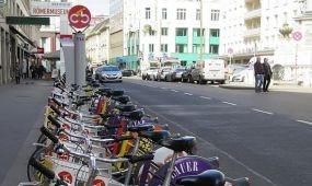 Bécs: közösségi kerékpárok az utastájékoztatási rendszerben
